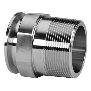 1 in. Clamp x 1/2 in. Male NPT Adapter (21MP) 304 Stainless Steel Sanitary Clamp Fitting