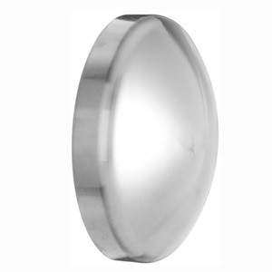 1/2 in. Polished Dome Cap (16W) 316L Stainless Steel Sanitary Butt Weld Fitting