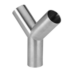 1 in. Polished Weld True Y - 28WB - 316L Stainless Steel Sanitary Butt Weld Fitting