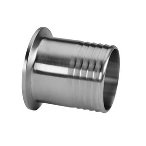 1-1/2 in. x 1 in. Rubber Hose Barb Adapter (14MPHR) 304 Stainless Steel Sanitary Clamp Fitting