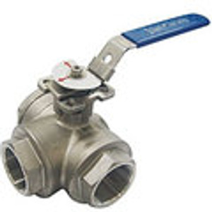 3 Way L Port Ball Valves 1000WOG