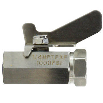 1/4 in. 1000 PSI WOG, FIP x FIP, Full Port, Mini 316 Stainless Steel Ball Valve, Butterfly Handle