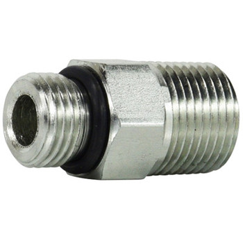 7/8-14 x 3/8 in. O-Ring to Pipe Adapter Steel O-Ring Hydraulic Adapter
