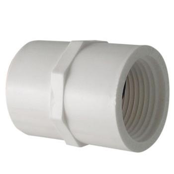 2 in. PVC Slip x FIP Adapter, PVC Schedule 40 Pipe Fitting, NSF 61 Certified