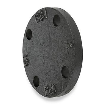 10 in. 125 lb Cast Iron Black Blind Flange
