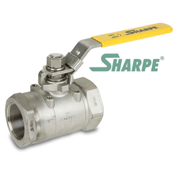 1-1/2 in. 316 Stainless Steel 3000 WOG Full Port Seal Welded Threaded Ball Valve Sharpe Valves Series 50C767