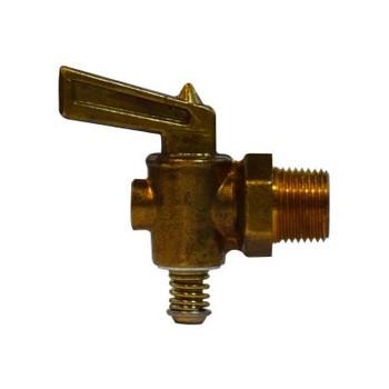 1/2 in. MIP Lever Handle Drain Cock, Brass, 30 PSI, Industry No. M-44-P
