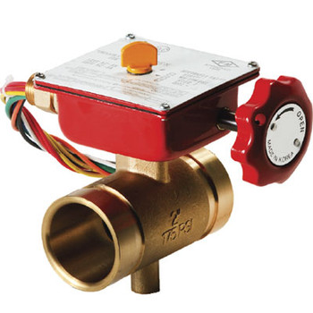2-1/2 in. Grooved End Bronze Fire Protection Butterfly Valve 300 PSI UL/FM Approved