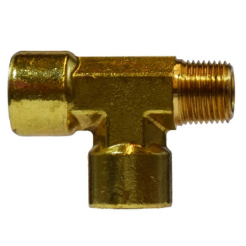 1/8 in. Street Tees, FIPxMIPxFIP, NPTF Threads, 1200 PSI, Forged Brass, Pipe Fitting