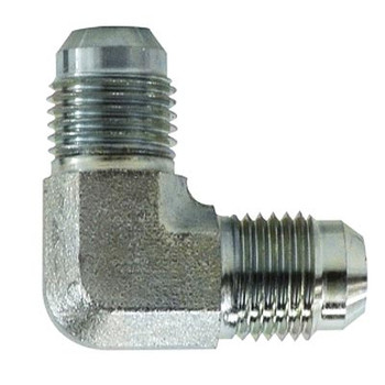 9/16-18 JIC x 7/16-20 JIC Union Elbow Steel Hydraulic Adapter