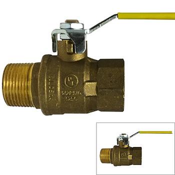 1-1/4 in. 600 WOG, MxF Italian Full Port Brass Ball Valves, Forged Brass