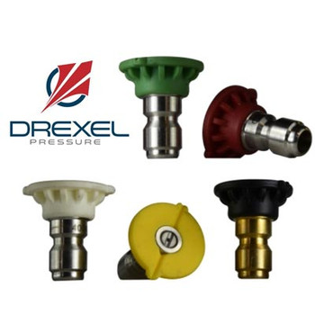 6.0 Green Tip 25-Degree Quick Disconnect, Stainless Steel, Drexel Pressure Spray Nozzle 4,000 PSI