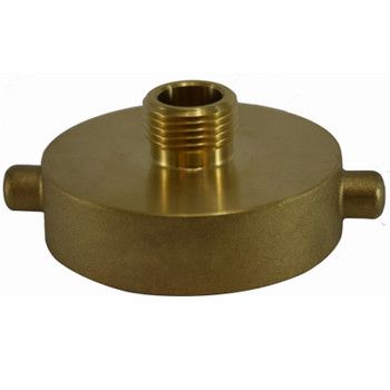 2-1/2 in. NST x 1-1/2 in. NPT Hydrant Adapter, Brass Fire Hose Fitting