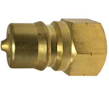 1/4 in. ISO-B Female Pipe Plug Quick Disconnect Hydraulic Adapter Brass