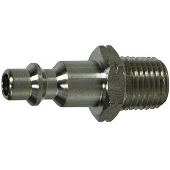 1/4 in. Male Plug, Stainless Steel, Universal Series,1/4 Industrial Interchange, Pneumatic Fittings