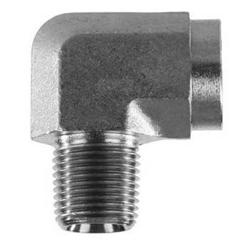 3/8 in. x 3/8 in. Threaded NPT Street Elbow 4500 PSI 316 Stainless Steel High Pressure Fittings