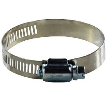 #72 Worm Gear Clamp, 316 Stainless Steel, 1/2 in. Wide Band Clamps, 600 Series