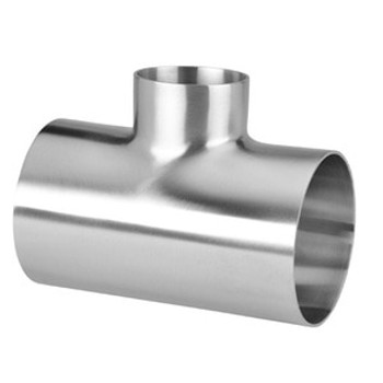 3 in. x 2-1/2 in. Polished Short Reducing Short Weld Tee - 7RWWW - 316L Stainless Steel Butt Weld Fitting (3-A)
