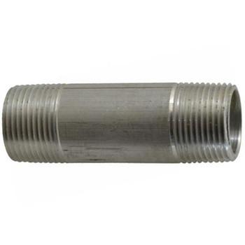 3/8 in. x 6 in. Aluminum Pipe Nipple, Pipe Thread