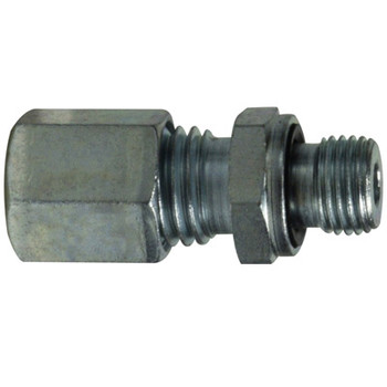28 mm Tube x M33 X 2.0 Parallel Male Stud Coupling Metric DIN 2353
