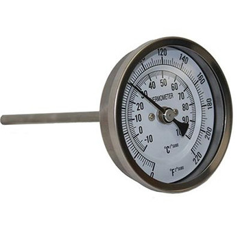 Bi-Metal Brew Thermometer with 3 in. Face & 4 in. Probe