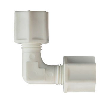 1/2 in. Polypropylene Compression Union Elbow, FDA & NSF Listed