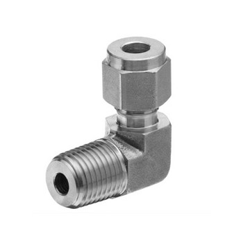 3/8 in. Tube x 1/2 in. NPT - Male Elbow - Double Ferrule - 316 Stainless Steel Tube Fitting