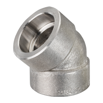 2 in. Socket Weld 45 Degree Elbow 304/304L 3000LB Forged Stainless Steel Pipe Fitting