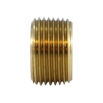 1/2 in. x 3/8 in. Face Bushing, MIP x FIP, NPTF Threads, 1200 PSI Max, Brass, Pipe Fitting