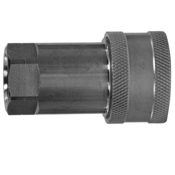 1/4 in. ISO-A Female Pipe Coupler Quick Disconnect Hydraulic Adapter