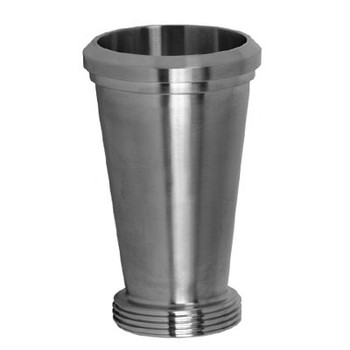 2 in. x 1-1/2 in. 31-15F Concentric Taper Reducer (3A) 304 Stainless Steel Sanitary Fitting