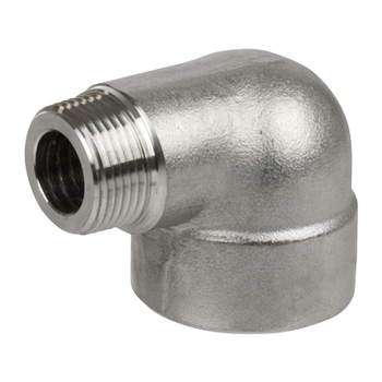 1 in. Threaded NPT 90 Degree Street Elbow 304/304L 3000LB Stainless Steel Pipe Fitting