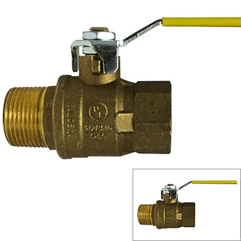 3/4 in. 600 WOG, MxF Italian Full Port Brass Ball Valves, Forged Brass