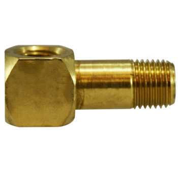 1/4 in. x 1-3/16 in. Long Street Elbows, FIP x MIP, NPTF Threads, Brass Pipe Fitting, DOT Approved