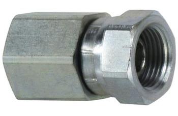 1/2 in. Female NPT x 3/8 in. Female NPSM Steel Pipe Swivel Adapter
