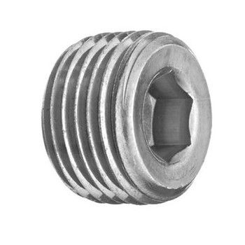 3/8 in. Threaded NPT Hollow Hex Plug 4500 PSI 316 Stainless Steel High Pressure Fittings