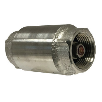1/2 in. In-Line Check Valve, 304 Stainless Steel
