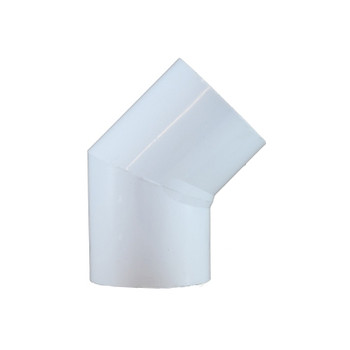 1-1/2 in. PVC Slip 45 Degree Elbow, PVC Schedule 40 Pipe Fitting, NSF 61 Certified