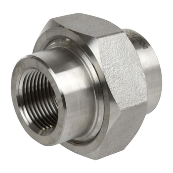 1/2 in. Threaded NPT Union 304/304L 3000LB Stainless Steel Pipe Fitting