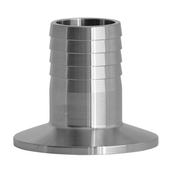 4 in. Brewery Hose Barb Adapter - 14MPHRL - 304 Stainless Steel Sanitary Clamp Fitting
