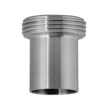 2-1/2 in. 15WL Threaded Ferrule, Tank Spud (Light) (3A) 304 Stainless Steel Bevel Seat Sanitary Fitting
