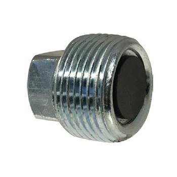 3/4-14 Magnetic Drain Plug, Steel, NPT Threaded