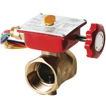 2-1/2 in. Threaded End Bronze Fire Protection Butterfly Valve 300 PSI UL/FM Approved
