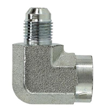 9/16-18 JIC x 3/8 in. Female Pipe Steel JIC Female Elbow Hyrdaulic Adapter & Fitting