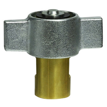 1 in. Female NPT Wingnut Thread to Connect 3000 Drybreak No Spill Material: Brass 1 in. Body