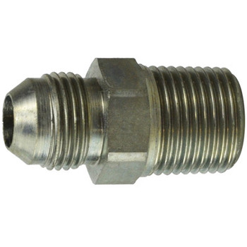 7/16-20 JIC x 1/4-19 BSPT Male Connector Steel Hydraulic Adapter