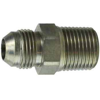 7/16-20 JIC x 1/4-19 BSPT Male Connector Steel Hydraulic Adapter