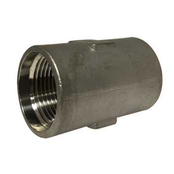 1 In. Drop Well Coupling, Threaded, Standard Wall, 304 Stainless Steel