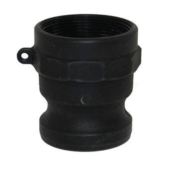 1-1/2 in. Type A Adapter Polypropylene Male Adapter x Female NPT Thread, Cam & Groove/Camlock Fitting