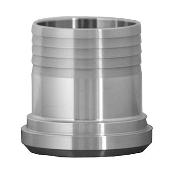 2-1/2 in. 14AHR Rubber Hose Adapter 304 Stainless Steel Sanitary Fitting
